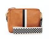 clare v checker crossbody strap at maeree