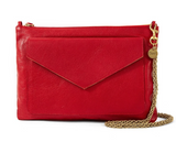 clare v cherry red pocket clutch at maeree