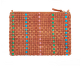 clare v woven checker flat clutch with tabs at maeree