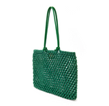 Clare V green sandy tote at maeree