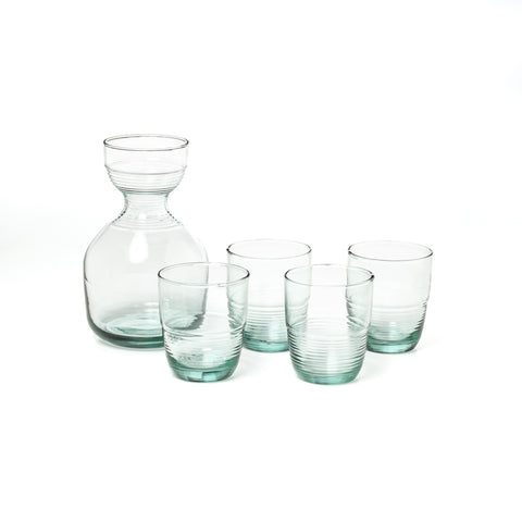 Recycled Glass Carafe & Tumbler Set at maeree