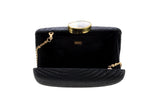 kayu black straw clutch at maeree