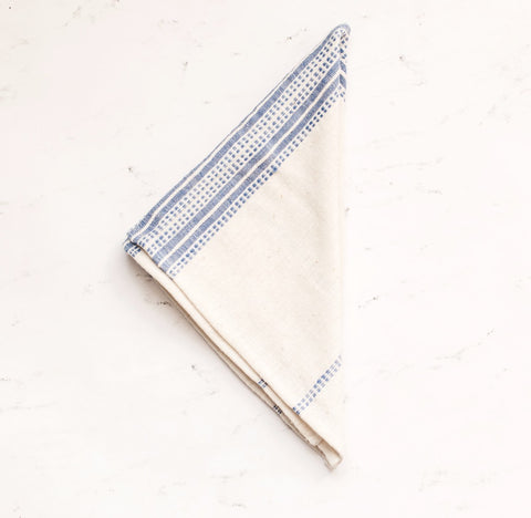 Organic Cotton Napkins - Navy Stripes