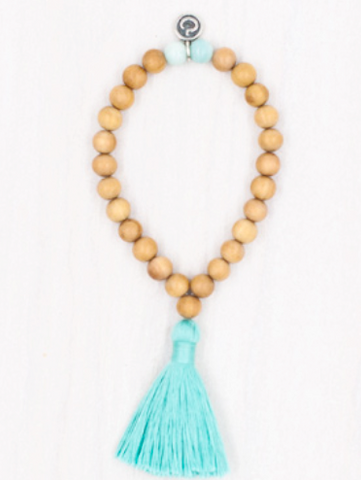 aqua meditation mala bracelet mala collective maeree
