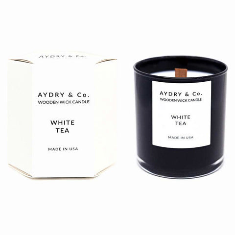 aydry & co white tea candle at maeree