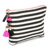 chic black and white summer clutch from JADEtribe at maeree