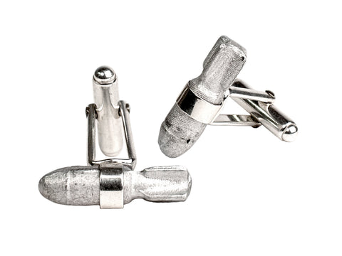 Article 22 Story Bomb Silver Cufflinks at maeree