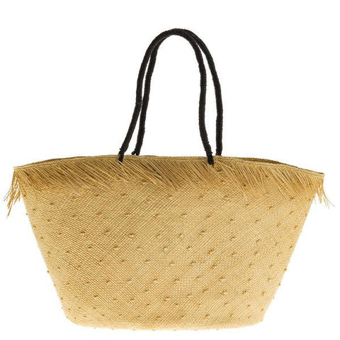 artesano brisa sand knots straw beach bag at maeree