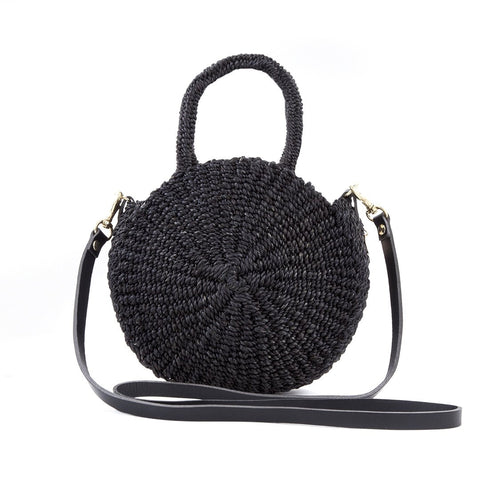 clare v petit alice woven handbag in black at maeree
