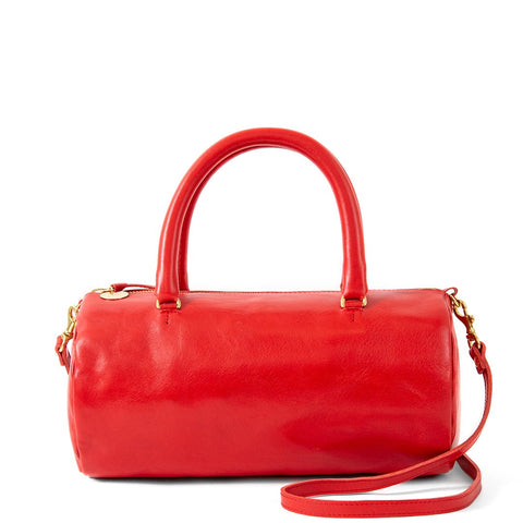 Cherry Red Top Handle Bag
