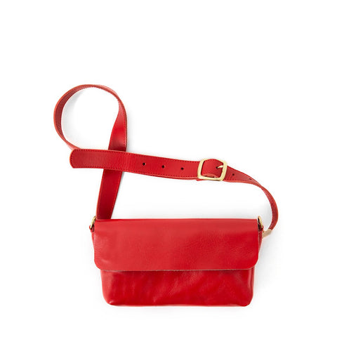 clare v Gustav cherry red fanny pack