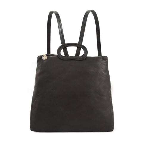 clare v marcelle black velvet leather backpack maeree