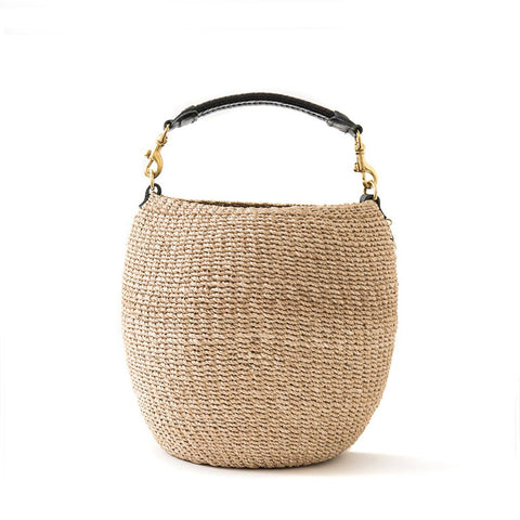 clare v pot de miel handwoven bag at maeree