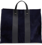 clarev simple tote navy with racing stripes maeree