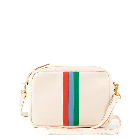 Ivory Stripe Crossbody