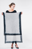 bloom & give cashmere scarf cloud gray