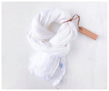 Celina Mancurti white linen scarf at maeree