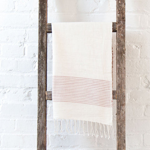 creative women riviera strip hand towel blush pink at maeree
