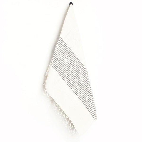 creative women gray ribbed hand towel at maeree