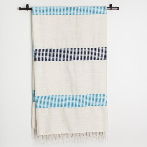 creative women organic aqua blanket at maeree