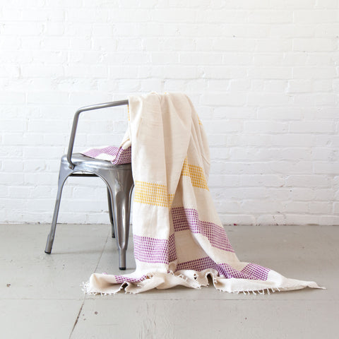 creative women dots blanket fuchsia and gold at mareee