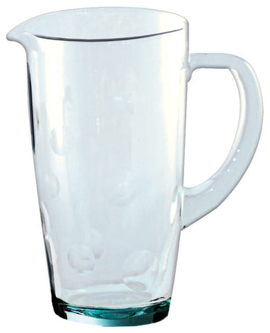 be-home recycled glass dots pitcher
