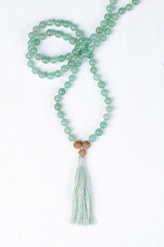 i am centered green aventurine mala maeree