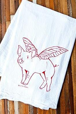 oh little rabbit flying pig cloth at maeree