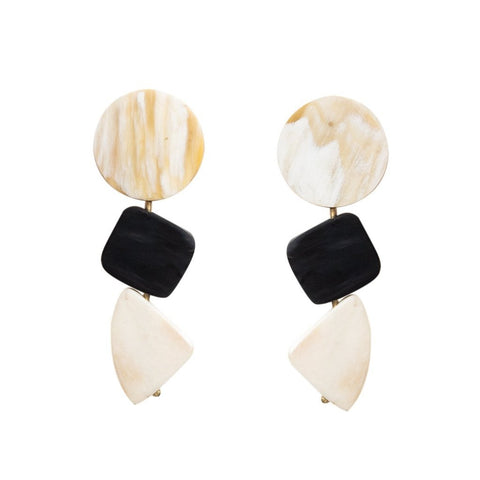 Geo Horn Earrings
