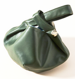 clare v chou chou in loden green leather maeree