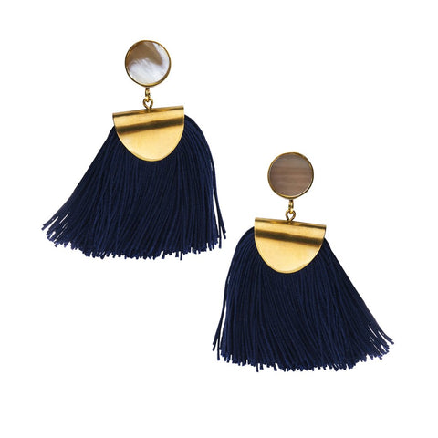 global goods partners horn and tassel earring at maeree
