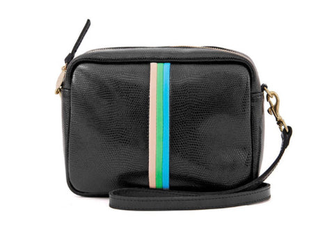 Black Lizard Stripe Crossbody