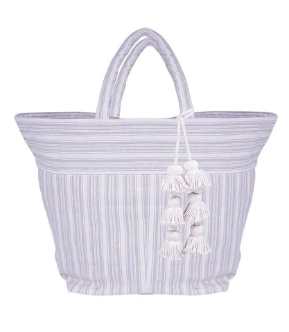 jadetribe sabai blue and white beach tote