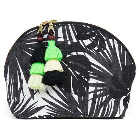 jaderibe aloha cosmetic bag clutch double tassel neon green
