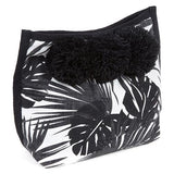 jade tribe aloha cosmetic bag black and white palm print