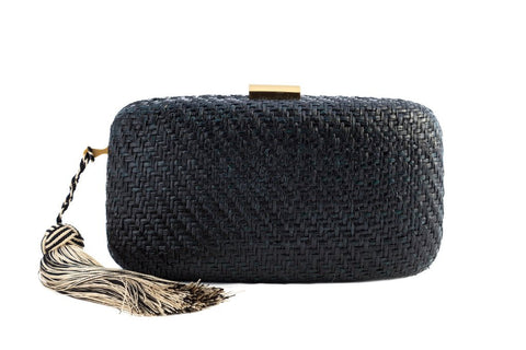 kayu black charlotte clutch at maeree