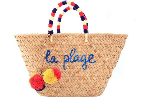 kayu la plage straw tote at maeree