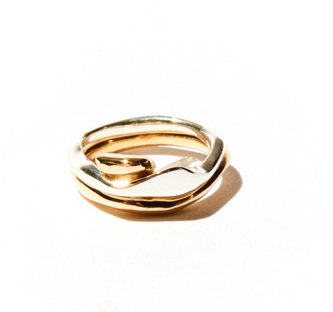 odette terre insterlocking rings at maeree