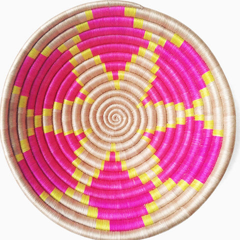 Indego Africa pink flower plateau basket at maeree