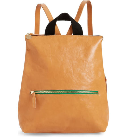 clare v natural rustic remi leather backpack at maeree