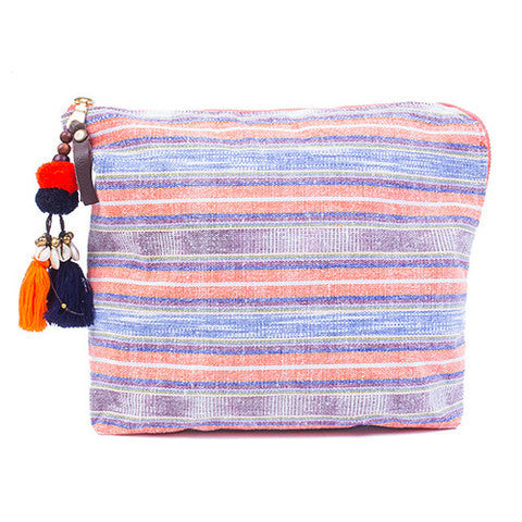 JADEtribe indigo & orange samui clutch at maeree
