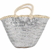 silver sequin basket bag from bohemia design at maeree