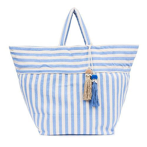 JADEtribe valerie puka tassel bag sky blue at maeree