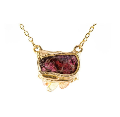 emilie shapiro sunsight garnet pendant necklace at maeree