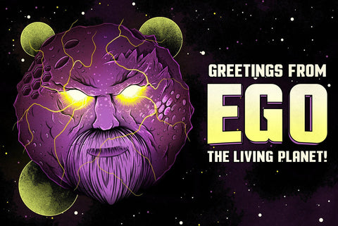 Ego the Living Planet by Arno Kiss (postcard)