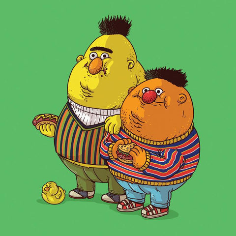 The Famous Chunkies: Bert and Ernie by Alex Solis