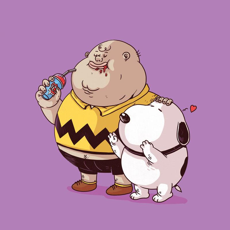 The Famous Chunkies:  Charlie Brown & Snoopy by Alex Solis