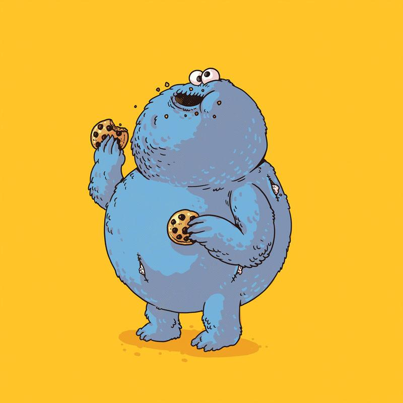 The Famous Chunkies:  Cookie Monster by Alex Solis