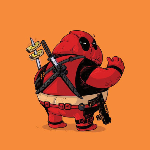 The Famous Chunkies:  Deadpool by Alex Solis