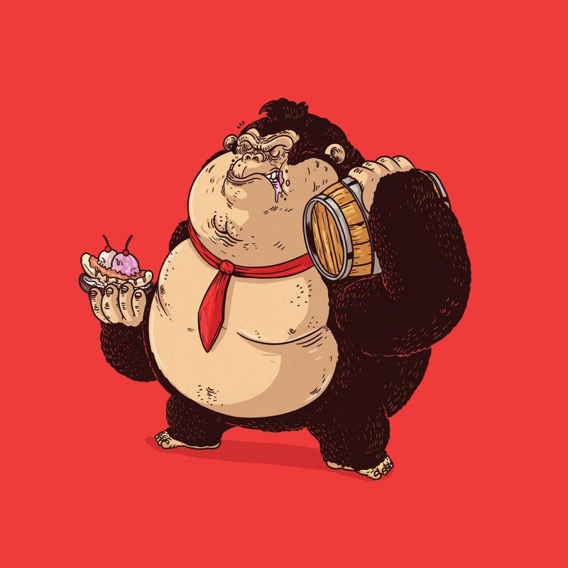 The Famous Chunkies: Donkey Kong by Alex Solis